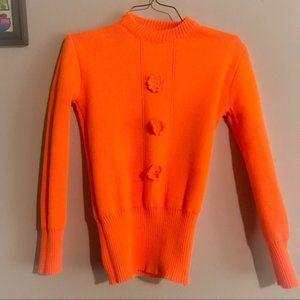 Super Sweet Vintage orange sweater XS